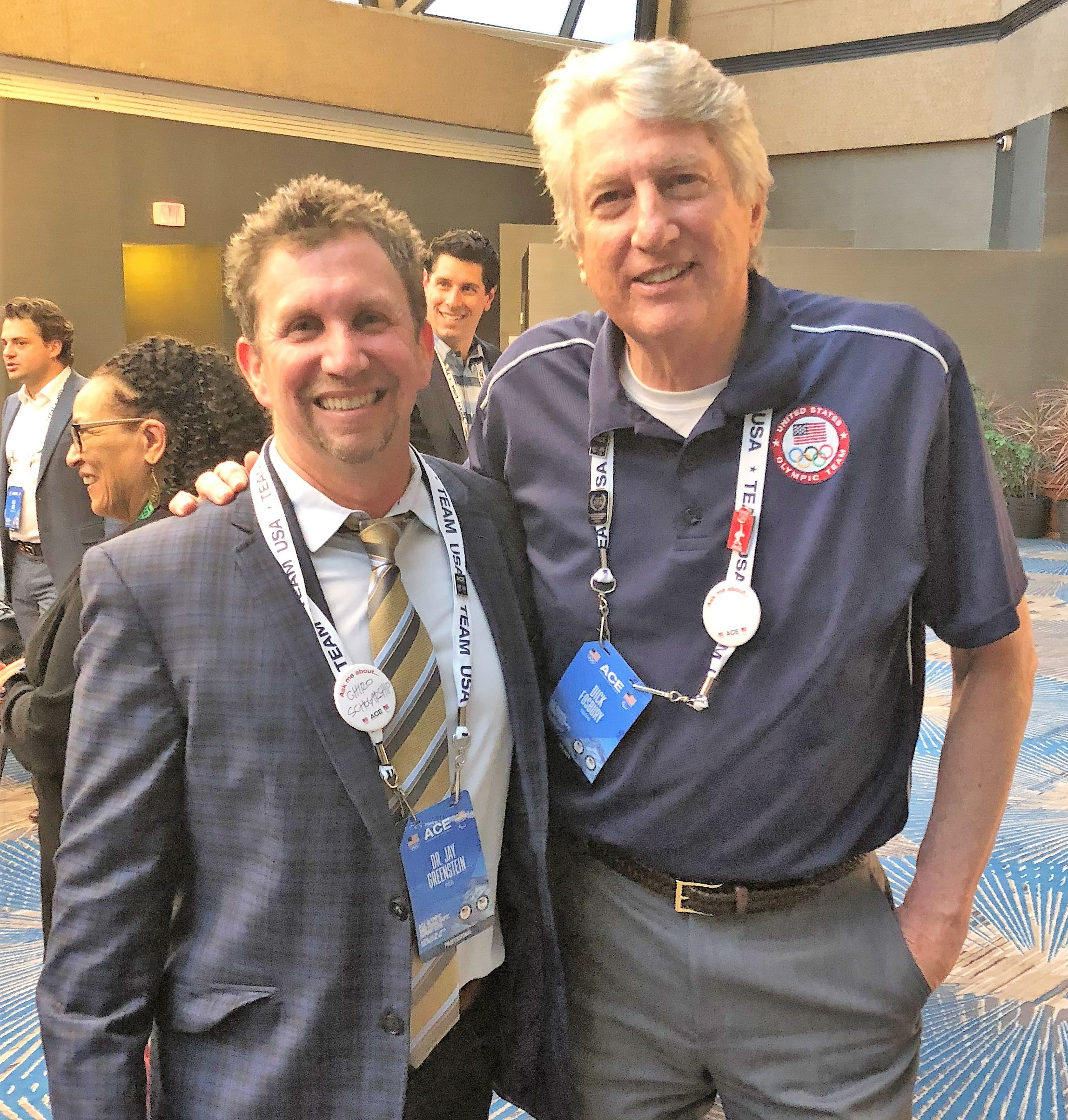 Olympian Dick Fosbury with Dr. Jay