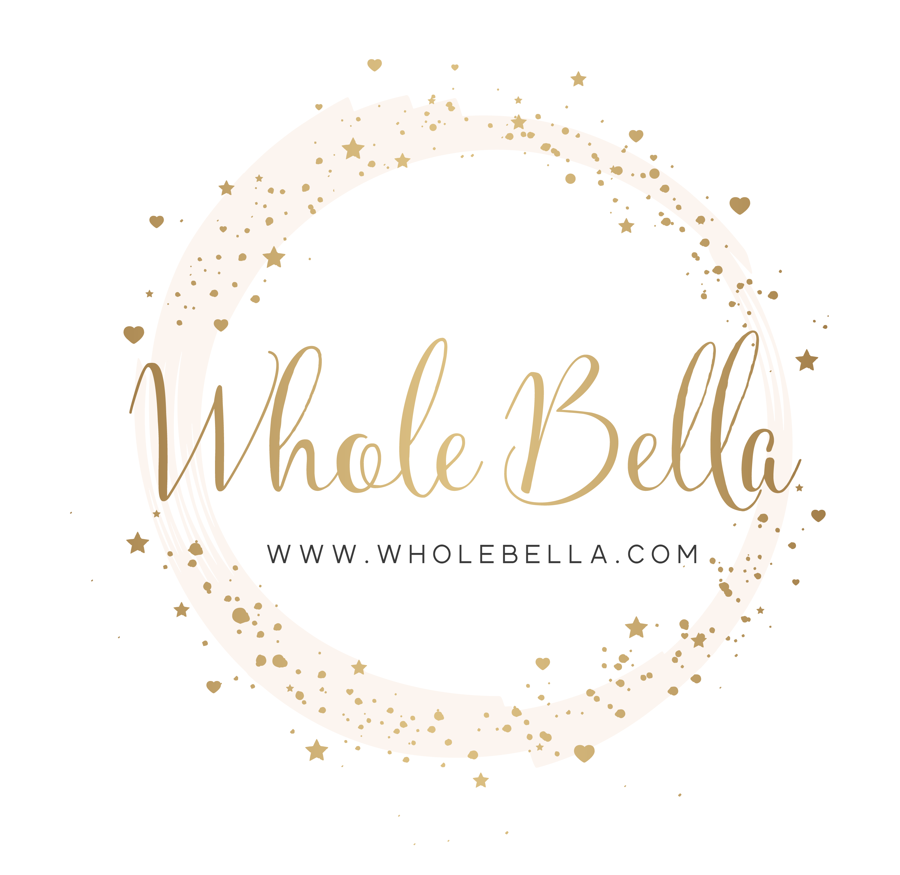 whole bella logo with website link