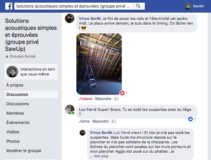 Le groupe Facebook de la formation pour une aide personnalisée