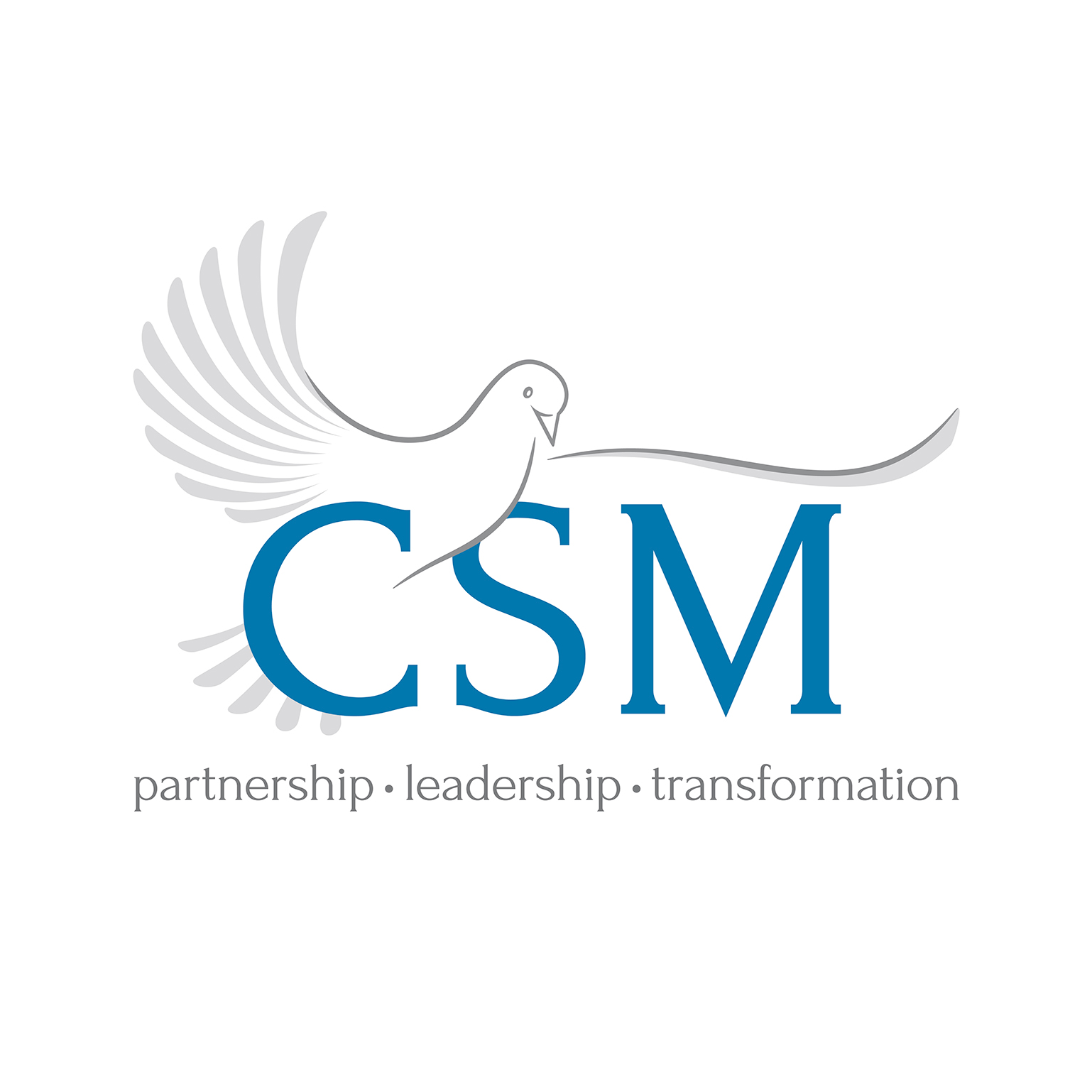A dove representing the Holy Spirit with CSM superimposed