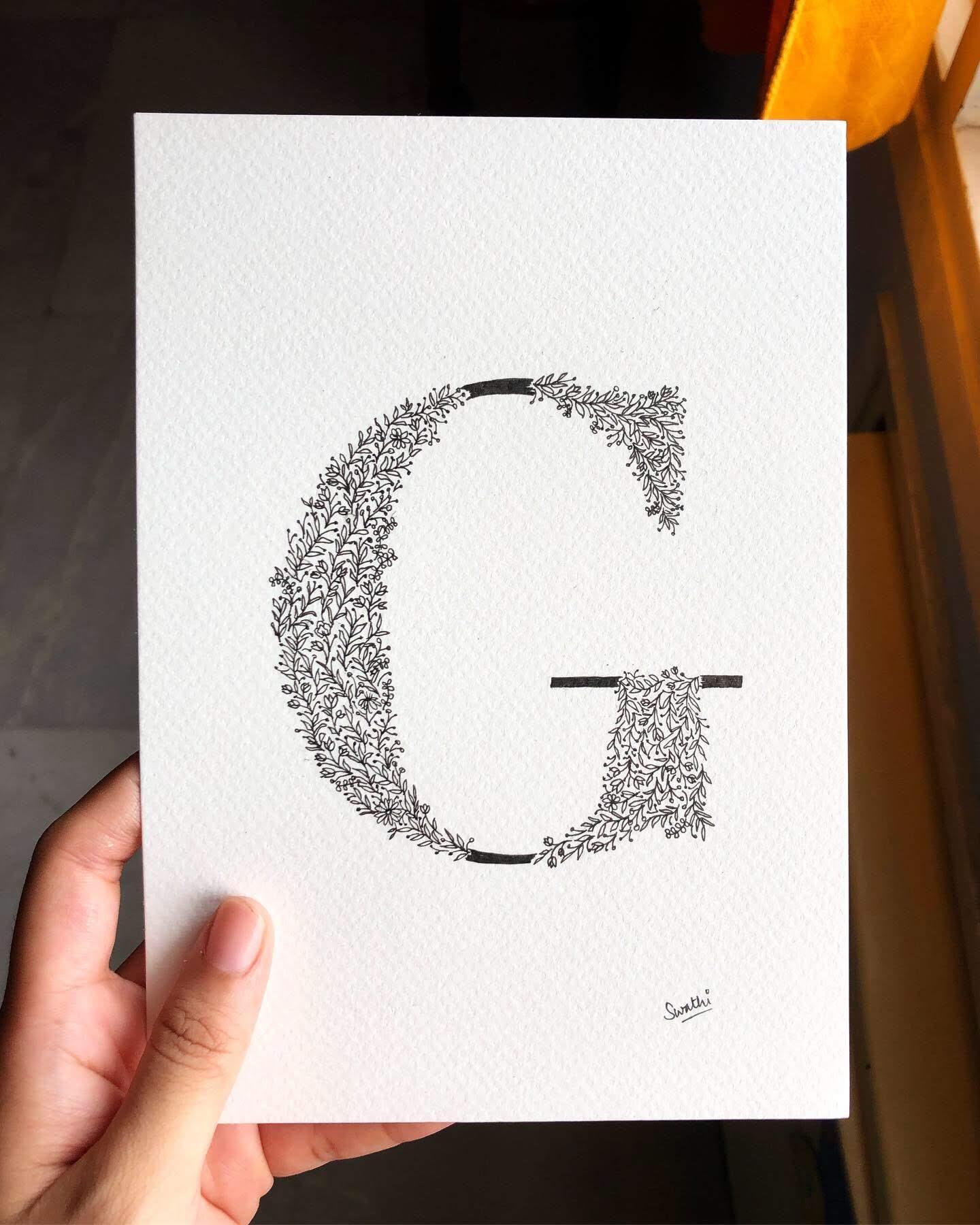 Monogrammed doodling