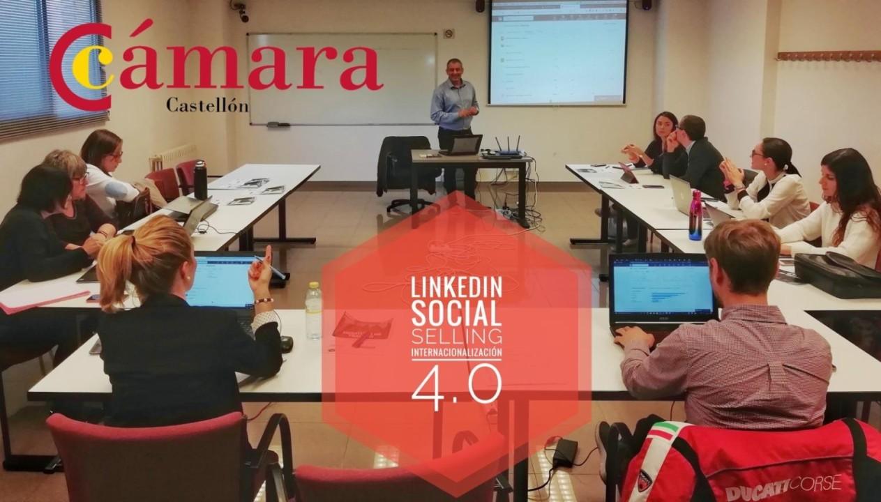 Programa Ejecutivo Internacionalizaciónn 4.0 con Social Selling en la Camara de Comercio de Castellon y David Martinez Calduch