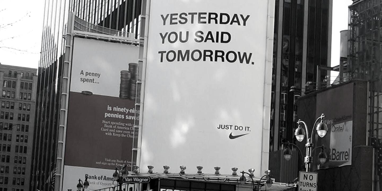 Ayer dijiste mañana - Nike