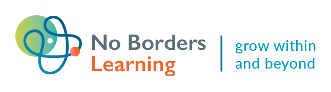 Logo of No Borders Learning with Tagline