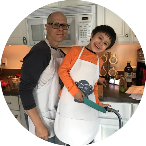 Chef and his sous-chef.