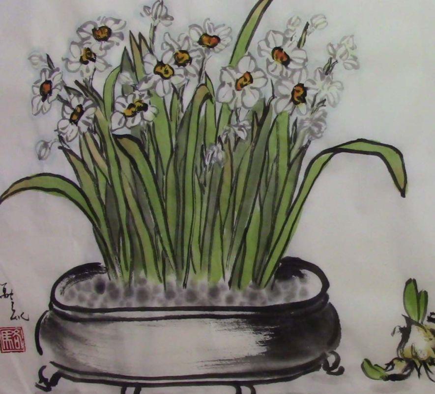 Sumi-e Narcissus