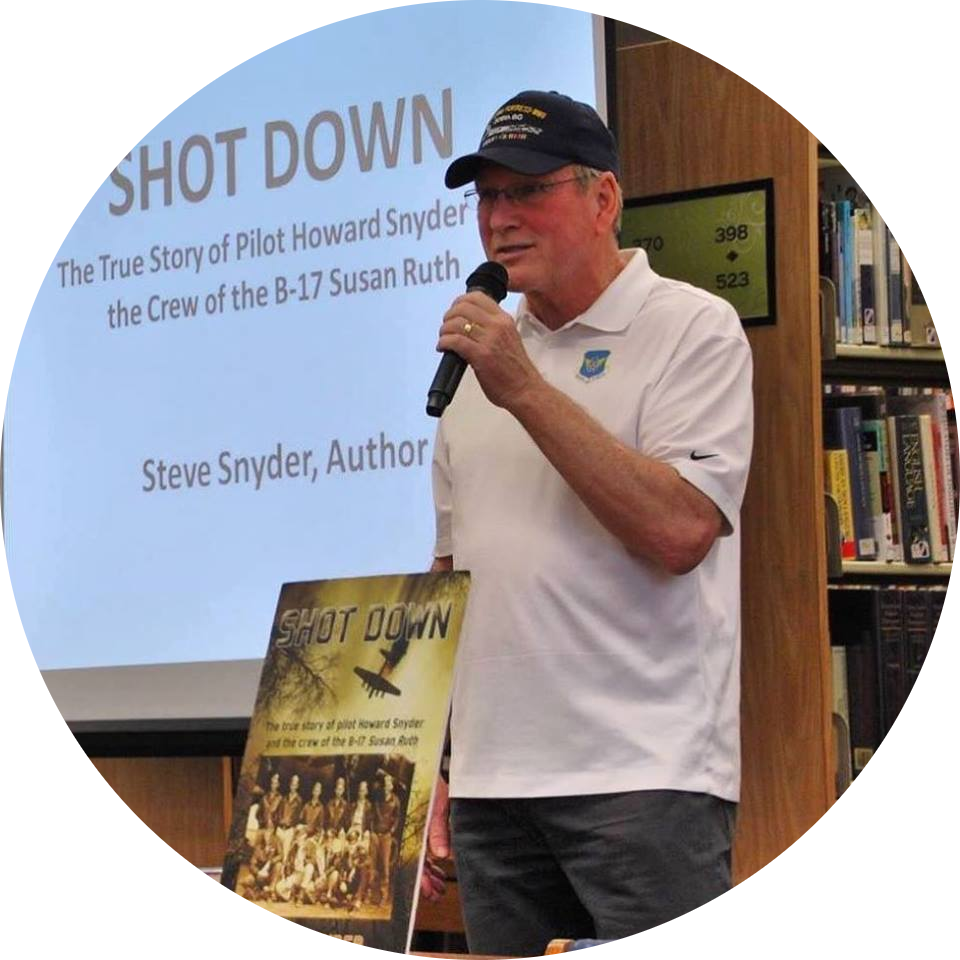 "Steve Snyder, Author of the multi award-winning ""Shot Down"""
