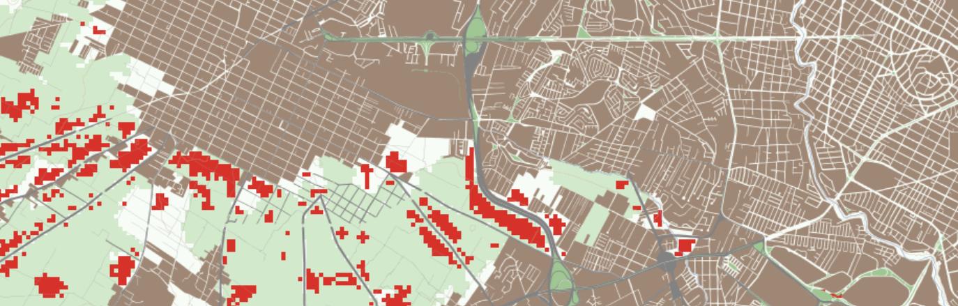 Simulación de expansión urbana. San Andrés Cholula, México