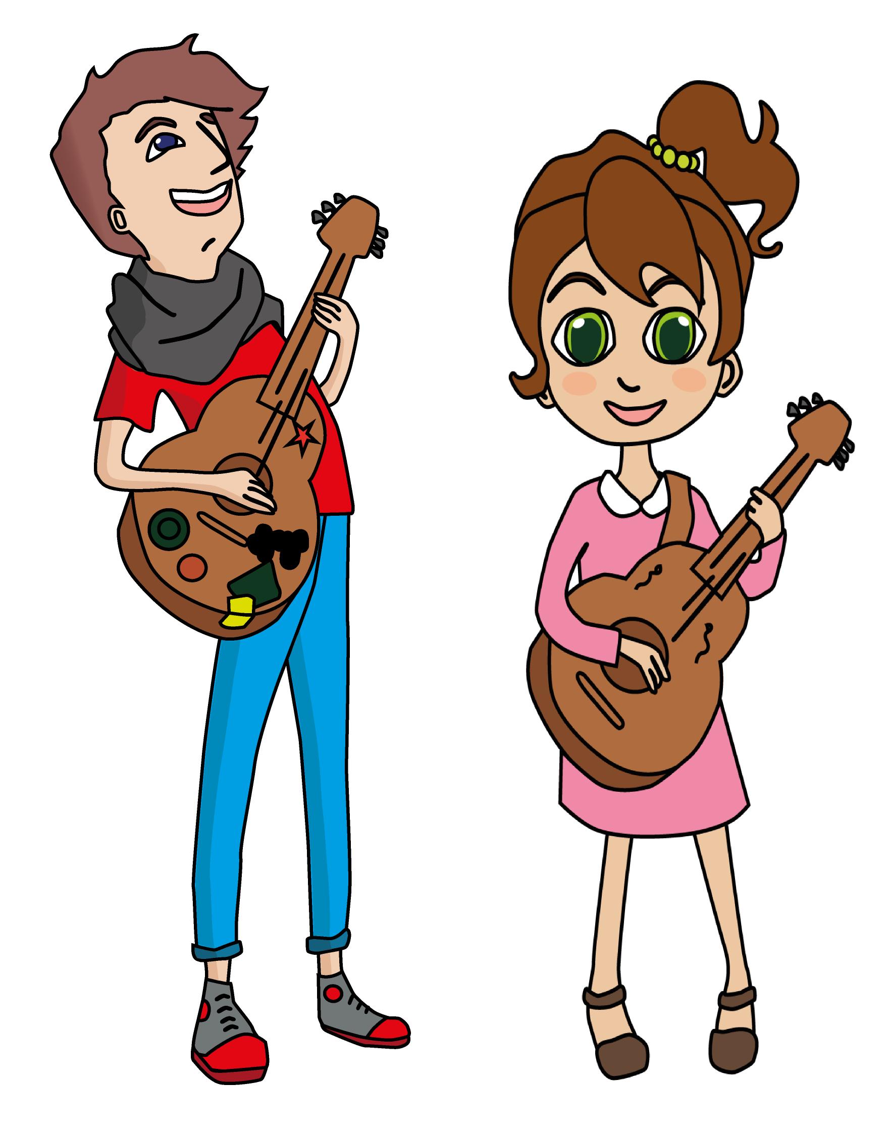 Hannah lernt Gitarre
