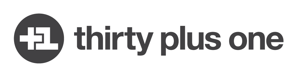 Thirty Plus One logo