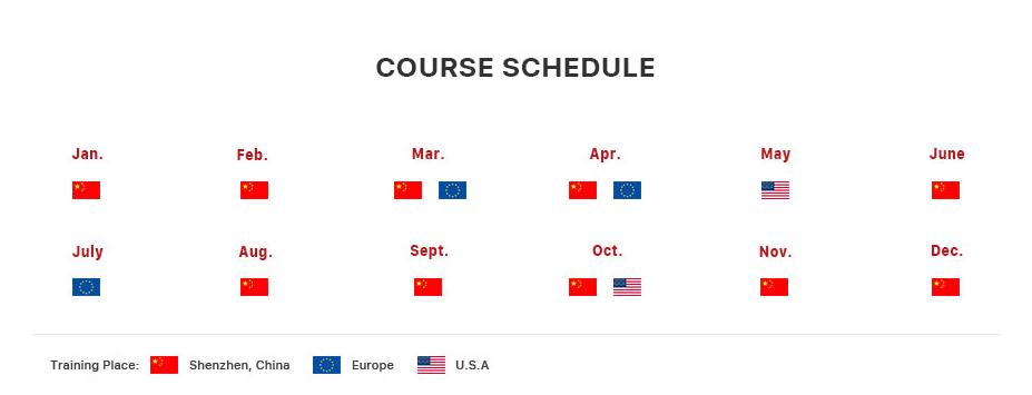 REWA onsite course training worldwide