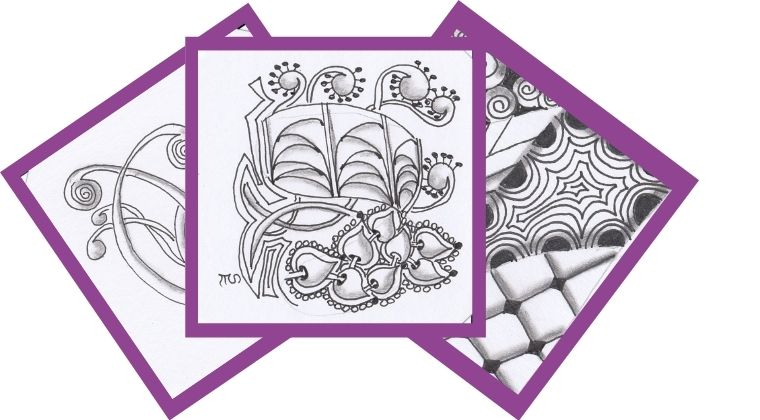 Zentangle tiles for Pattern Play 1