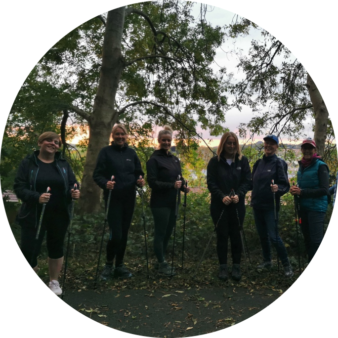 Wednesday night nordic walk