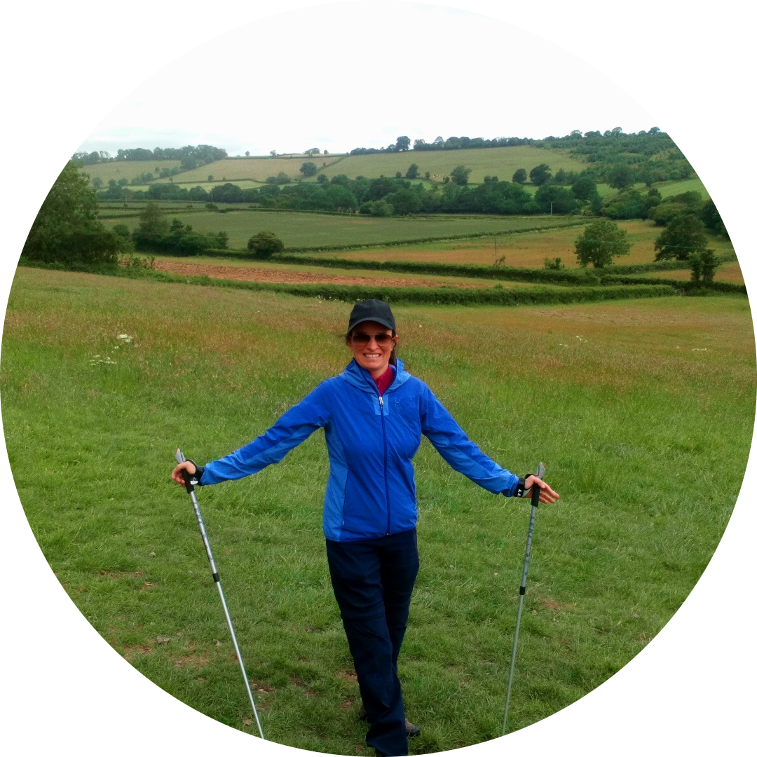 Lovely Zena having her 1-2-1 Nordic Walk in Midsomer Norton