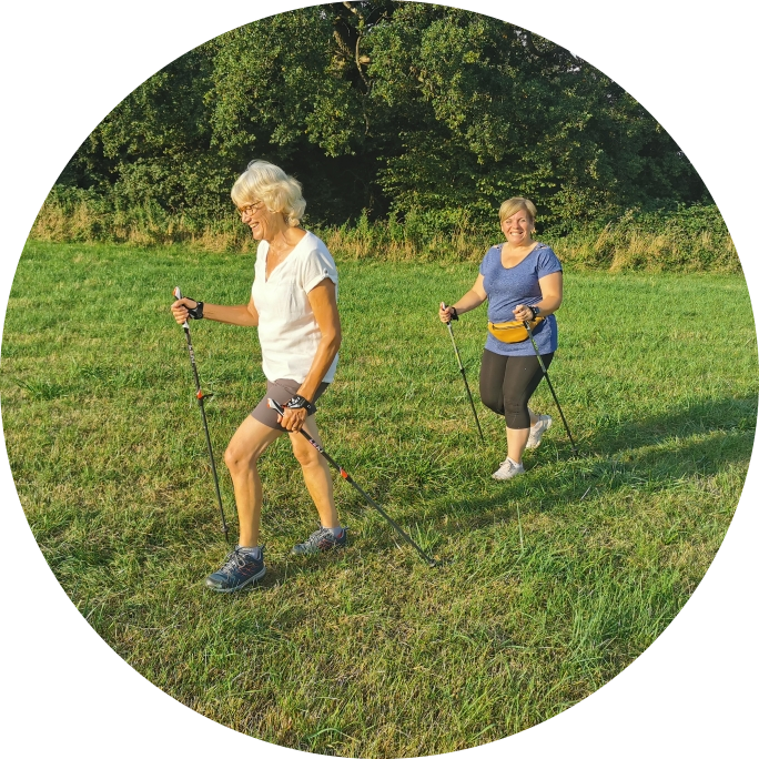 A hot night for Nordic Walking!