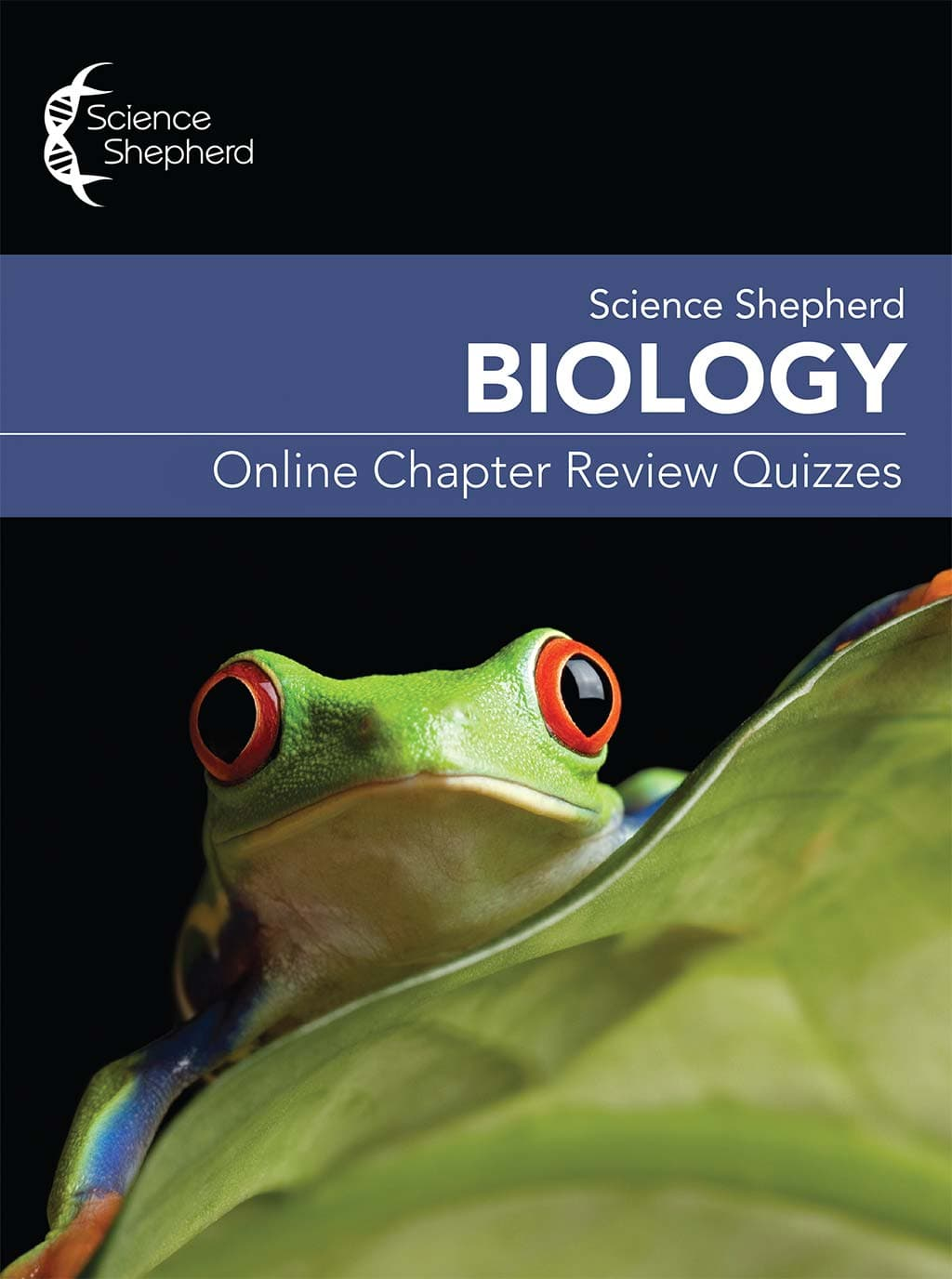 Science Shepherd Biology Homeschool Curriculum online chapter review quizzes cover of frog