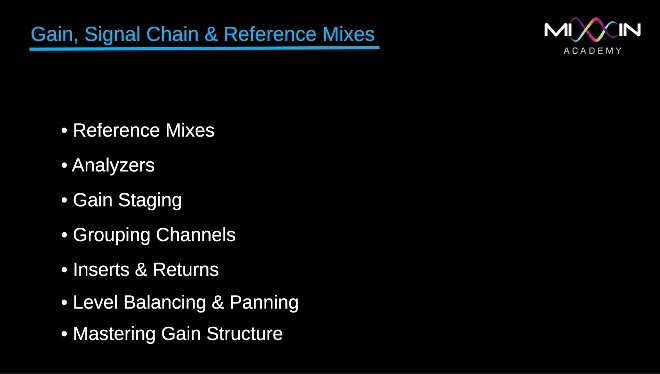 LEVEL 2 - Gain, Signal Chain & Reference Mixes