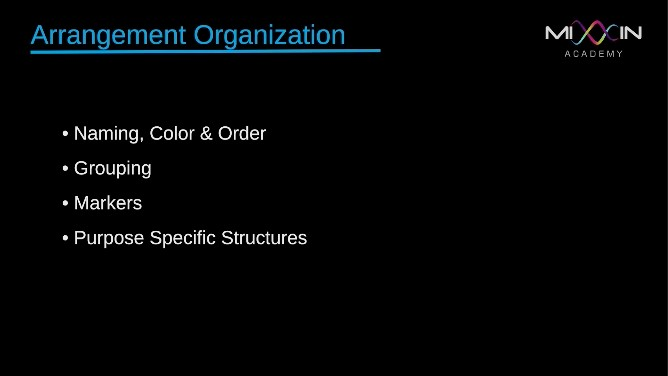 LEVEL 3 - Arrangement Organization