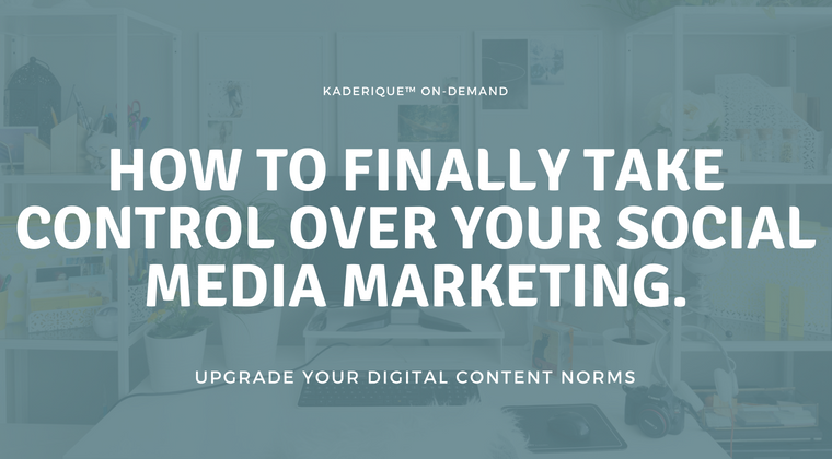 Free Webinar - How to Finally Take Control Over Your Social Media Marketing.