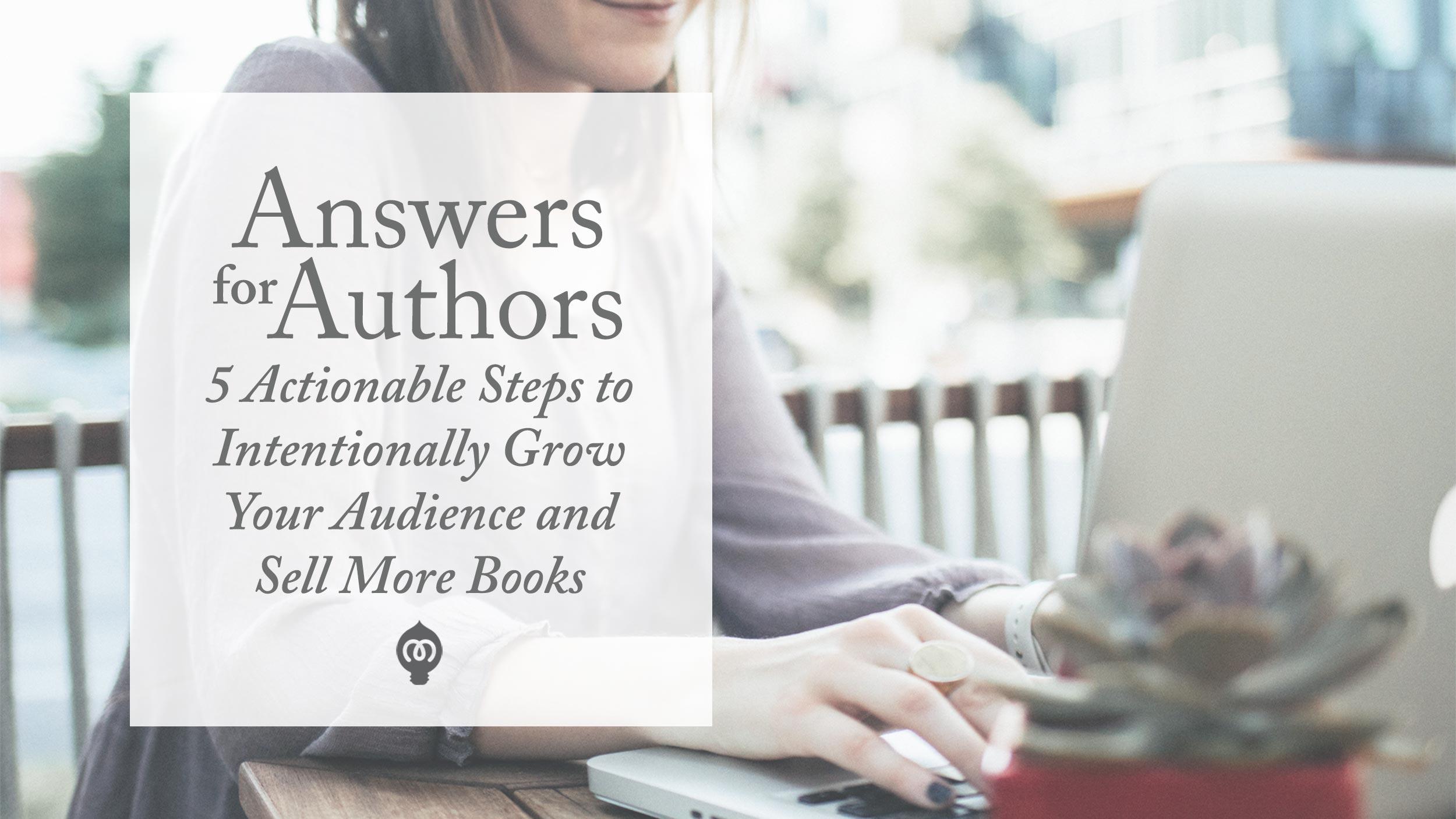 Answers for Authors <br><em>FREE TRAINING</em>