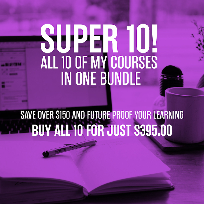 Get all my courses and save $$$
