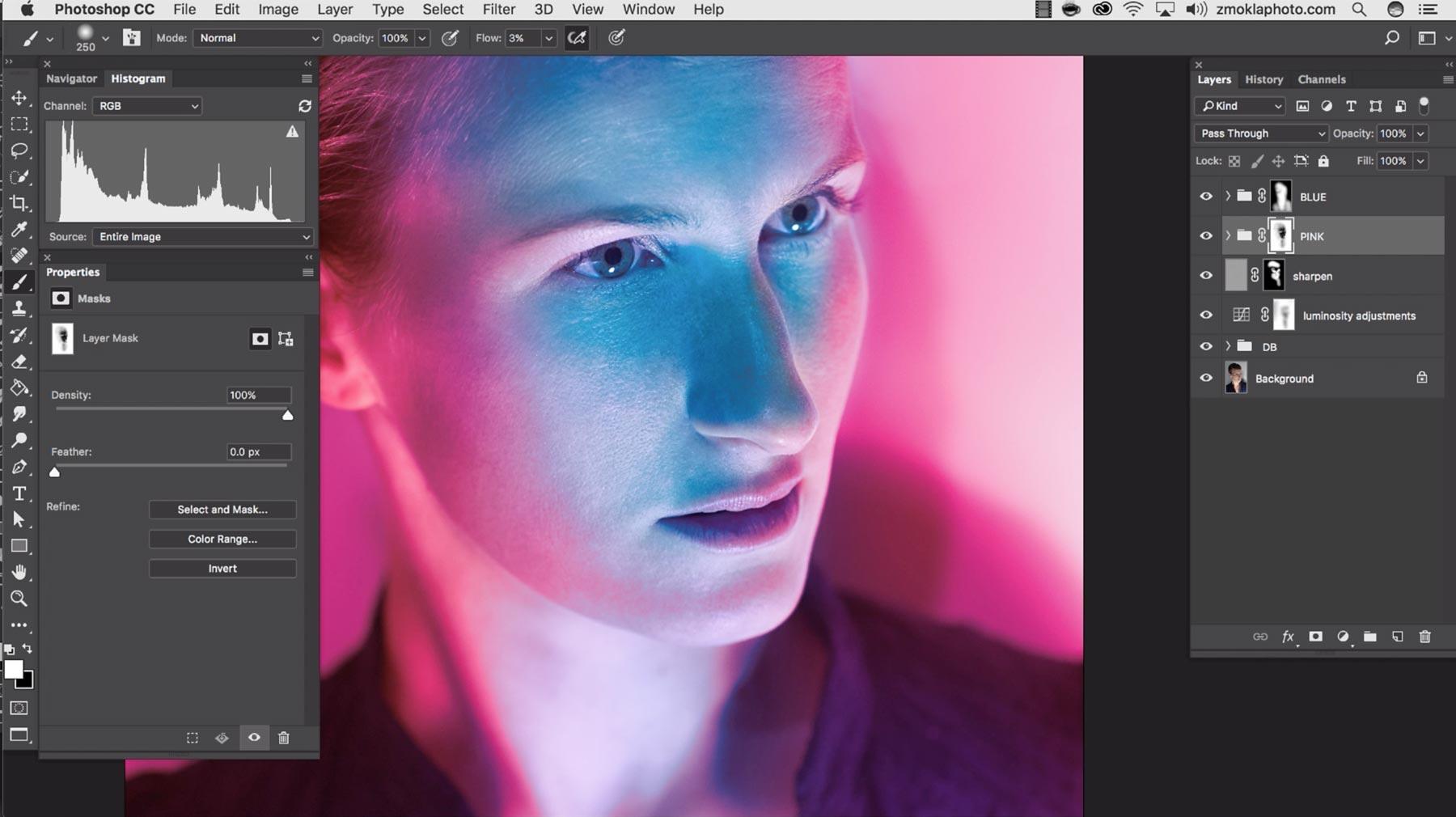 Color WorkFinish: Gel Lighting Effect