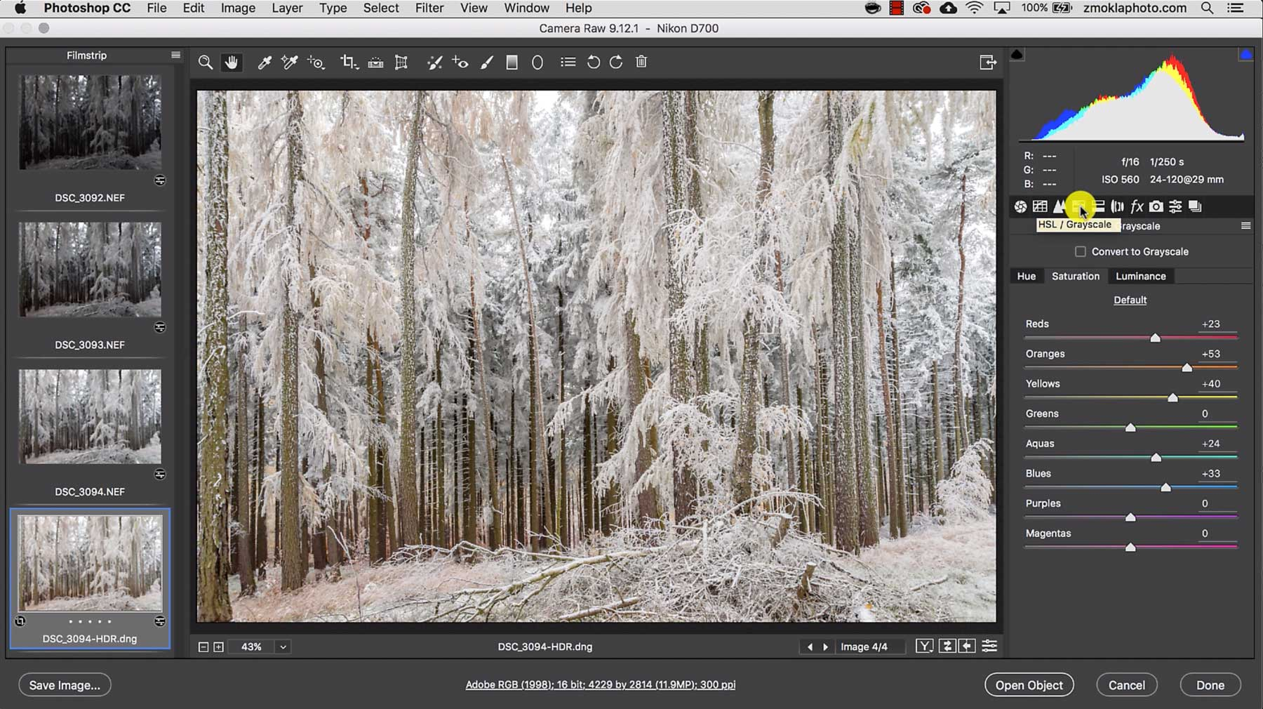 Create a Sequence Of Images For HDR Merge