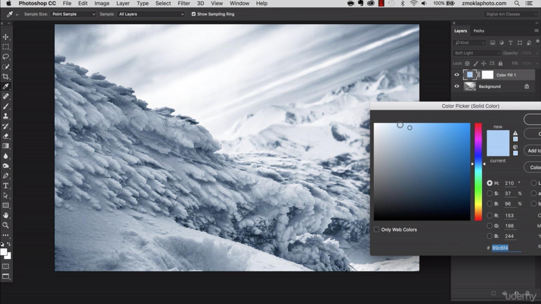 Color Fill Adjustment Layer Method