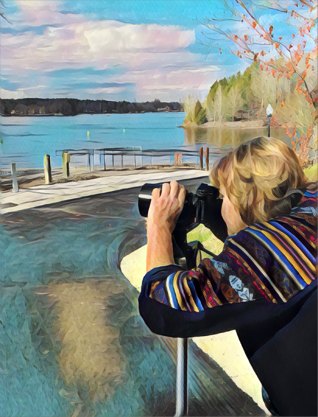 Katherine photographing water