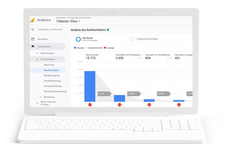 Optimiere Deinen Shop mit E-Commerce Tracking