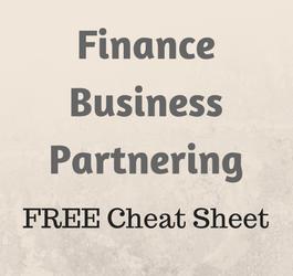 Finance Business Partnering Cheat Sheet