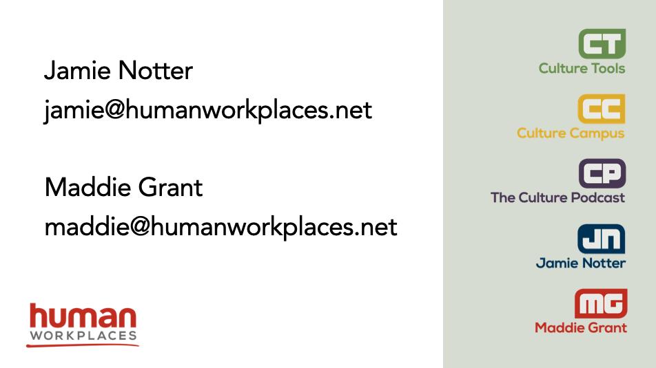 Jamie Notter, jamie@humanworkplaces.net