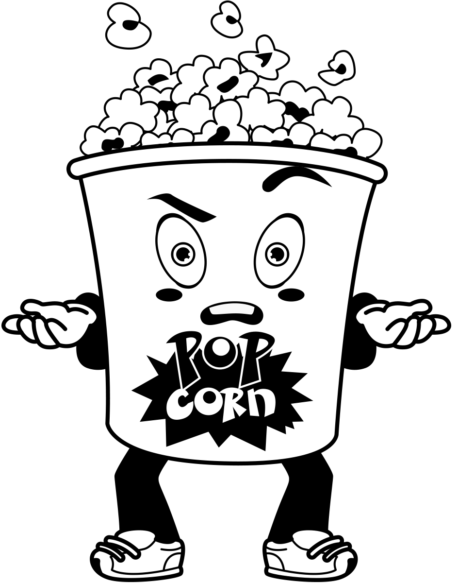 Popcorn tub cartoon