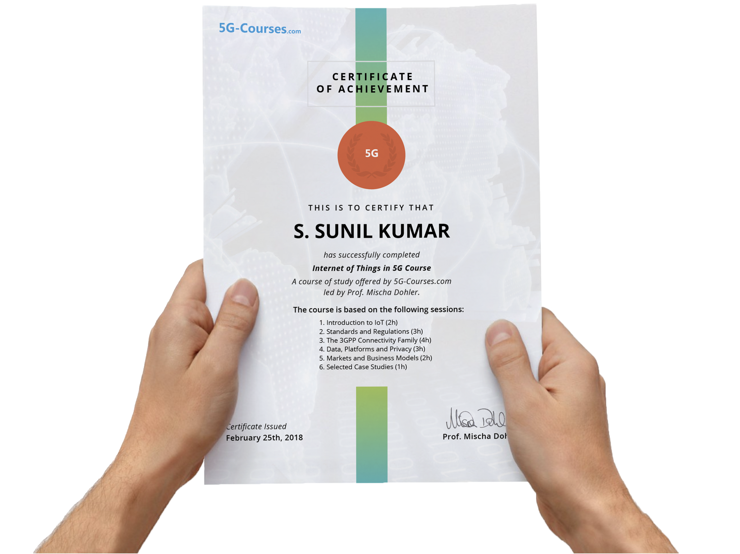 Earn a certificate from 5G-Courses.com