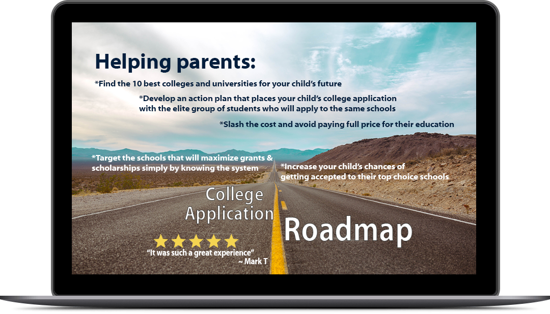 College Admissions Roadmap Laptop
