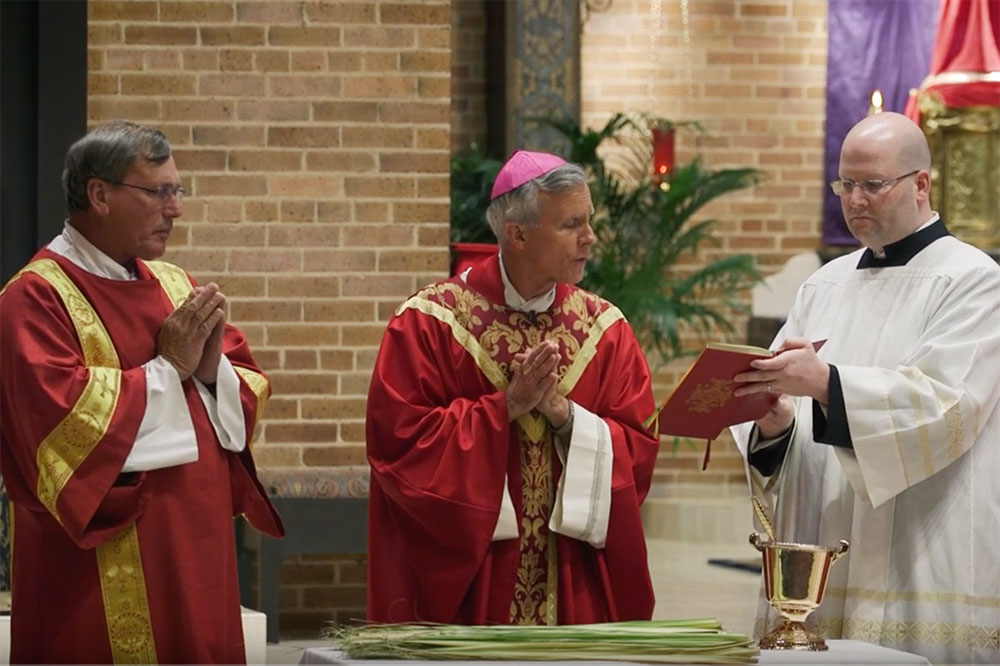 Celebrate Palm Sunday of Lent Mass with Bishop Joseph Strickland of the Catholic Diocese of Tyler and Deacon Keith Fournier