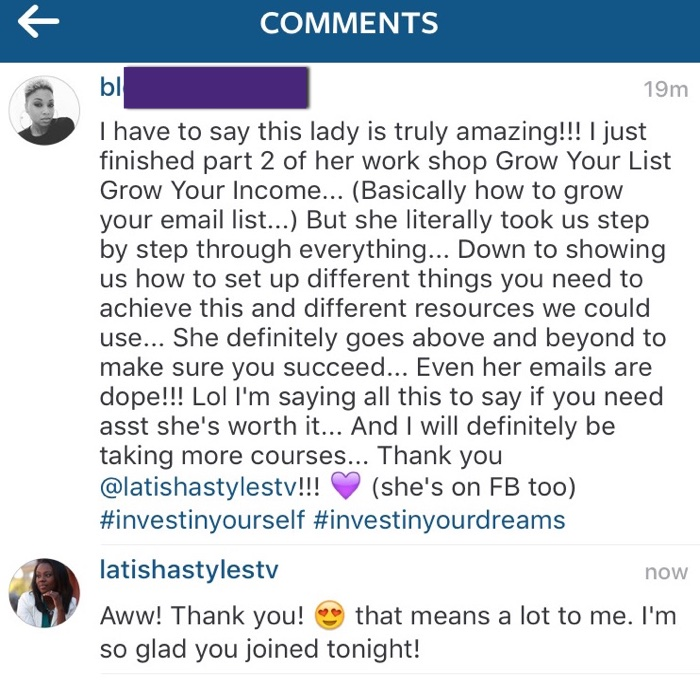 She definitely goes above and beyond to make sure you succeed!