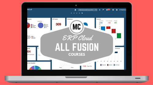 ERP Cloud Fusion Financials Courses (GL, P2P, AR, FA)