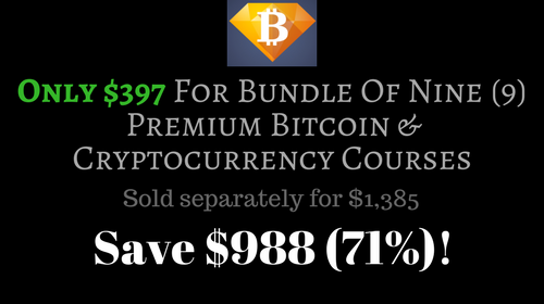 The Bitcoin & Cryptocurrency Investments & Profits Bundle of 9 Premium How-To Courses