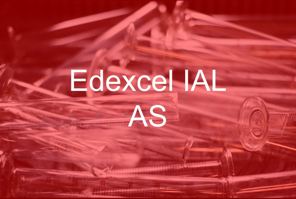 Edexcel IAS 2013 AS WCH01 course