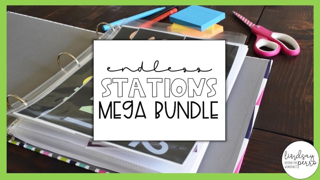 Middle School Math Stations Bundle