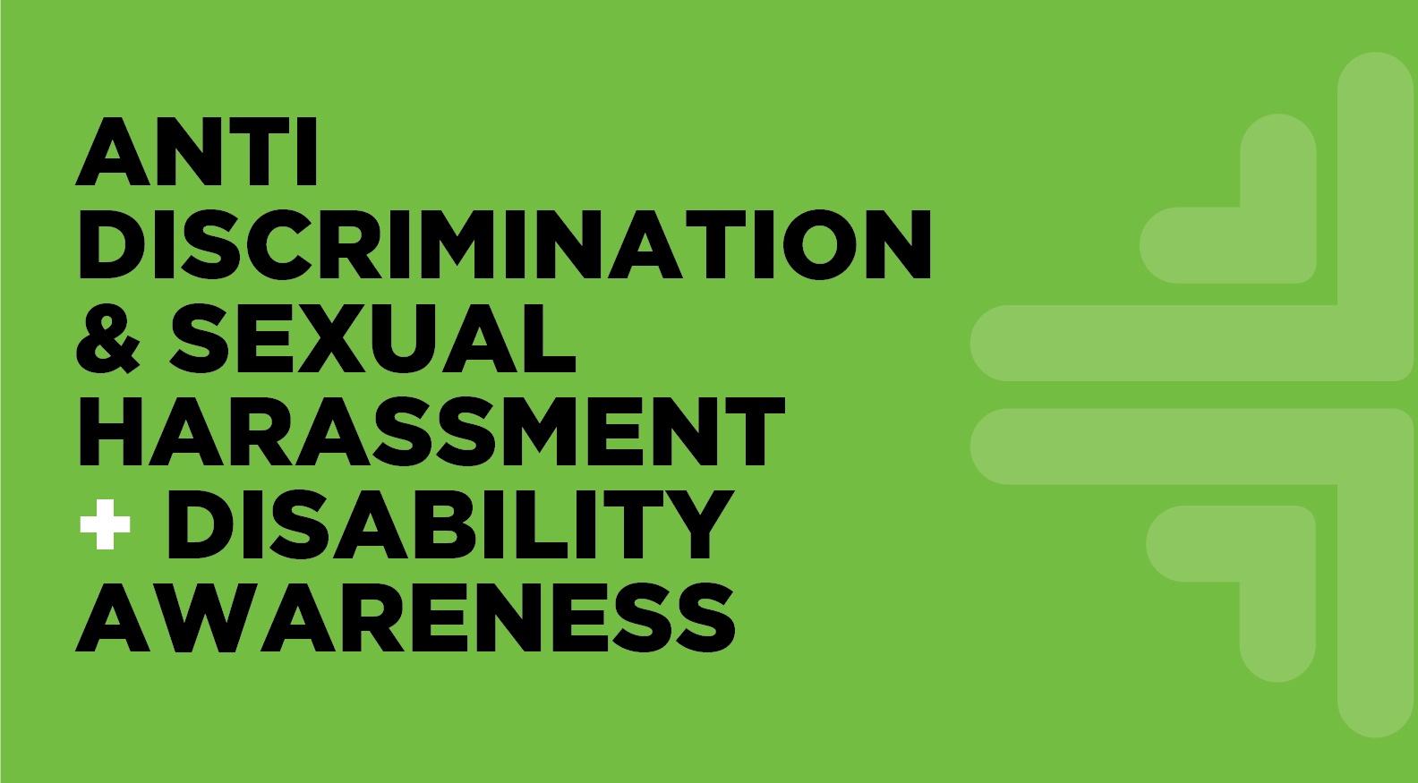 QLD - Anti-Discrimination & Sexual Harassment + Disability Awareness BUNDLE (incl. GST)
