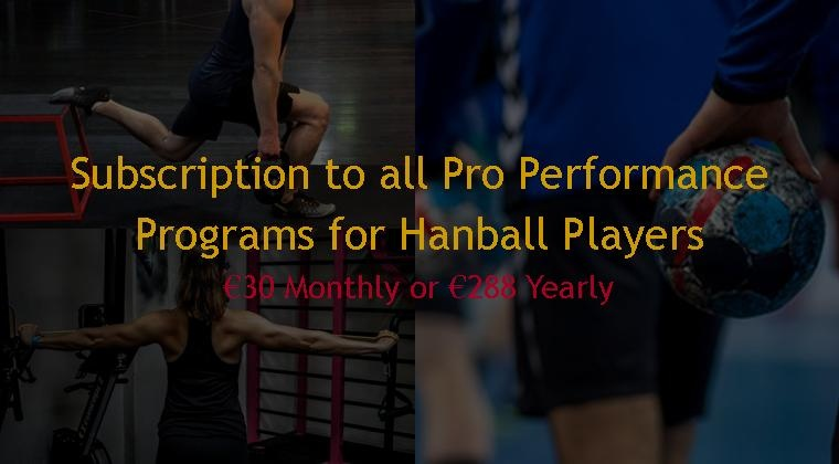 Pro Performance Training Subscription for Handball Players