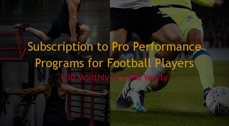 Pro Performance Training Subscription for Football Players