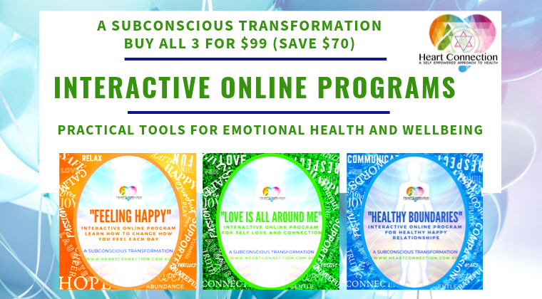 A SUBCONSCIOUS TRANSFORMATION - 3 Interactive Online Programs for Self Empowerment, Self Love and Healthy Boundaries