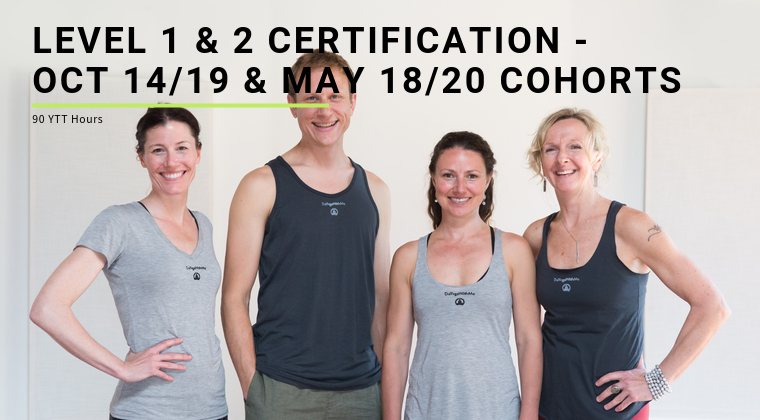 Level 1 & 2 Certification - Oct 14/19 & May 18/20 Cohorts