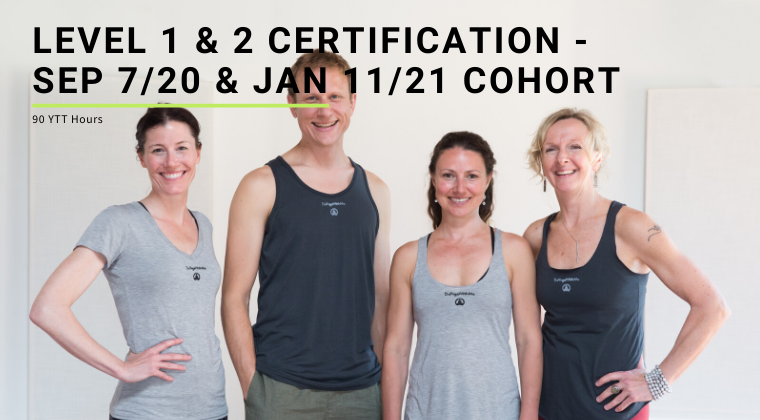 Level 1 & 2 Certification - Sep 7/20 & Jan 11/21 Cohort