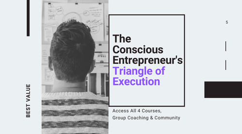 The Conscious Entrepreneur's Triangle of Execution