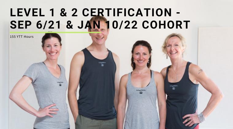 Level 1 & 2 Certification - Sep 6/21 & Jan 10/22