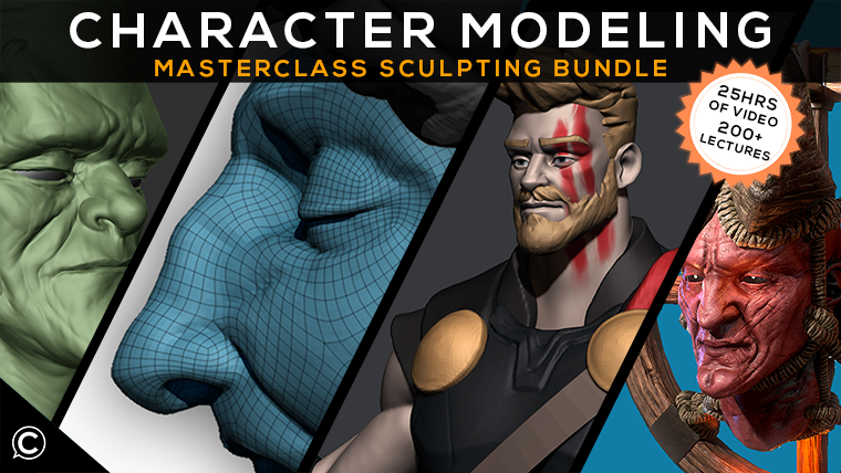 3D Character Modeling Masterclass Bundle: Comprehensive Sculpting Guide
